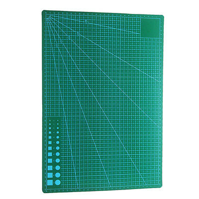 A3 PVC Cutting Mat Craft Sewing Quilting Grid Lines Printed Board Black Core