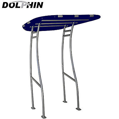 Dolphin Pro Plus T Top w/Navy Blue canopy -fit small to medium size boat