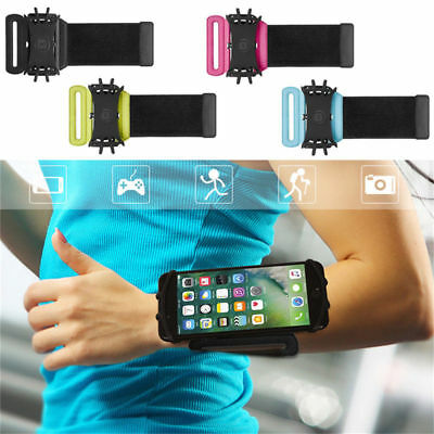 VUP 180 Rotation Sport Running Cycling Adjustable Wrist Band Bag For 4-6 Inches