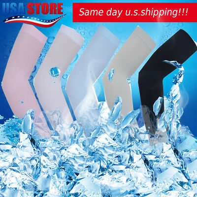 5 pairs Cooling Arm Sleeves Cover UV Sun Protection Basketball Sport White&Black
