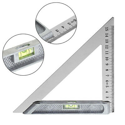 150mm Triangle Ruler 90° Alloy with Horizontal Bead Woodworking Measuring Tool