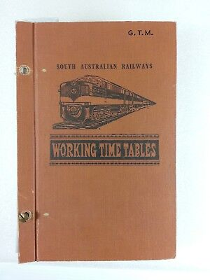 SAR Working Timetable 1958 1959.  All divisions except Pt Lincoln