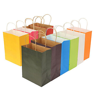 KQ_ Vertical Paper Party Bag with Handle for Present Gift Birthday Wedding Eager