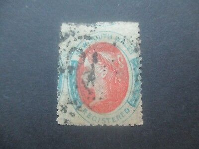 NSW Stamps: 1863 Double Lined 6 Registration Perforated Used  (c40)