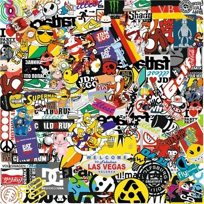 100 pieces. / Pack. Stickers for car skateboard Case for Motorcycle Bicycle Car