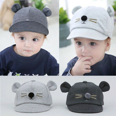 New Cute Newborn Toddler Kids Baby Girl Boy Visor Baseball Cat Ear Cap Sun Hat