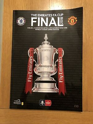 2018 FA CUP FINAL PROGRAMME - MAN UTD v CHELSEA (MANCHESTER UNITED)