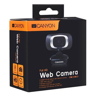 CA-CNE-CWC3 Canyon 1080P Full HD Webcam with USB 2.0 - CA-CNE-CWC3  (Cameras > W