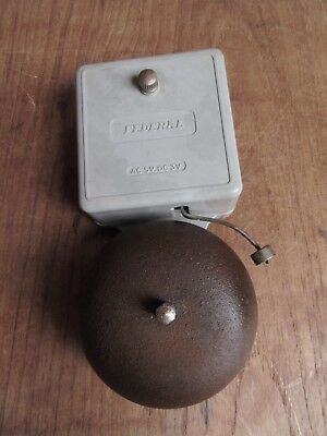 Vintage Federal Electric Wall Mounted Extension Telephone Alarm Bell - Man Shed
