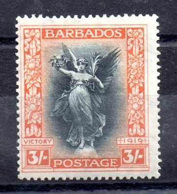 Barbados 1920-21 3/- Victory mint LHM SG211 WS8829