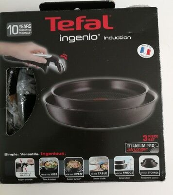 TEFAL Ingenio induction 3-Piece Pan Set- New with box