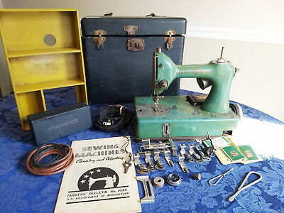 Featherweight Sewing Machine General Electric Model A SewHandy Portable Untest