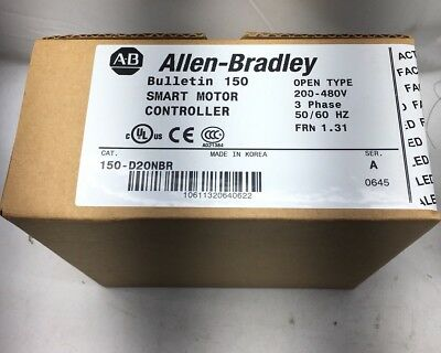 New Sealed Allen Bradley 150-D20Nbr Smc Smart Motor Controller