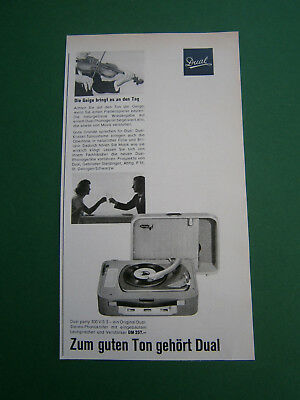 Werbung print ad 1959 St. Georgen Dual party 300 V/S 3 Stereo-Phonokoffer DM 257