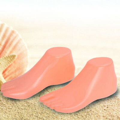 Pair of Plastic Adult Feet Mannequin Foot Model Tools for Shoes Sandal Display
