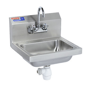 Stainless Steel Wash Hand Basin Including Mixer Tap (Cross Head Handles)