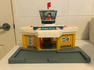 Vintage Fisher Price Little People Airport - Grey Base Version 1980 933