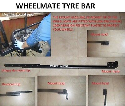 Manual Tyre Changer Bar, Alloy & Steel Wheels, Car Van & Motorcycle. Non Marking