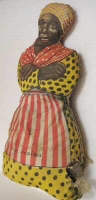 Wonderful Antique Stuffed AUNT JEMIMA Pancakes Advertising Doll 1920 Rare! as is