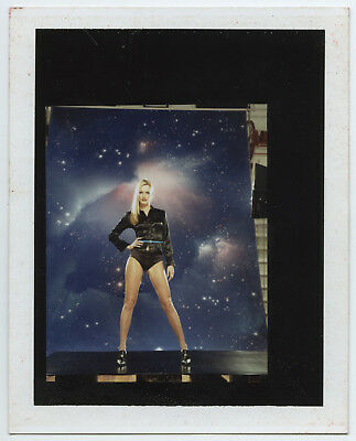 1990's POLAROID ORIGINAL SHOOTING MODE BLONDE MODEL LEGGY SEXY FASHION VINTAGE