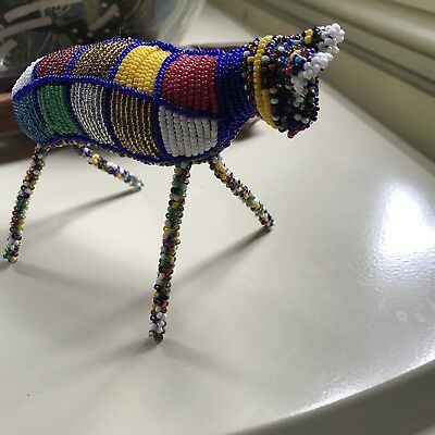 South African Hand Beaded  Animal Doll Figurine Fair Trade free Shipping