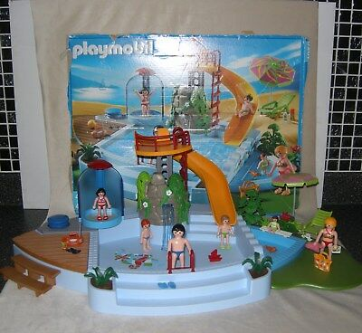 Playmobil Swimming Pool Water Slide 4858 Figures Accessories Instructions.