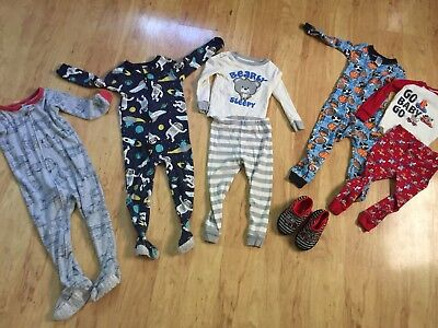Baby Boys Toddler Size 24 Months Pajamas Lot Carters