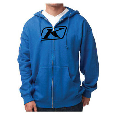 Klim Icon Zip Hoodie Blue Mens All Sizes