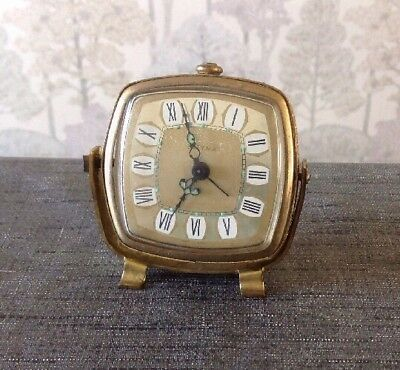 Vintage Estyma Alarm Clock Mechanical Winds Ticks Stops Clockmakers Collection