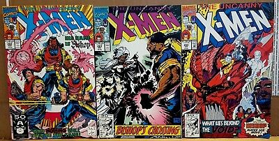 The UnCanny X Men #'s 282 283 284 1st Appearance Bishop Bagged & Boarded Marvel