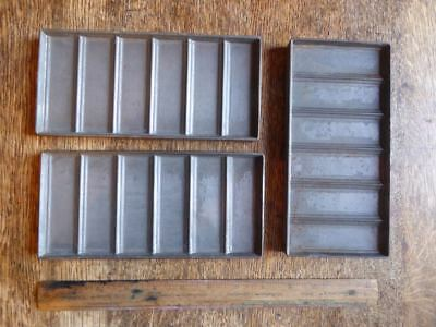 Antique chocolate bar moulds by Randel and Smith of Birmingham 1920's