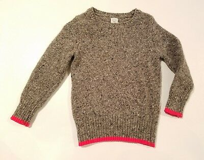 Crewcuts J Crew kids 2 3 toddler boys woven winter sweater grey brown speckled