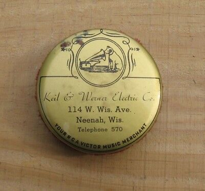 Antique Keil Werner RCA Victor Phonograph Record Cleaner Brush~Neenah Wis b
