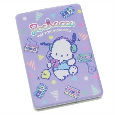 """Sanrio POCHACCO Double-Sided Makeup Compact Mirror 3.5"""" x 2.3"""" Pop '80s"""