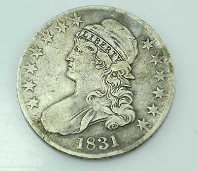 1831 U.s. Capped Bust Half Dollar Silver Coin No Reserve #1122