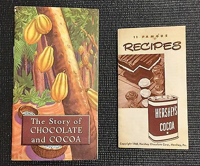 1960 MINT Hershey Story Of Chocolate and Cocoa & 11 Famous Recipes Lot  Vintage