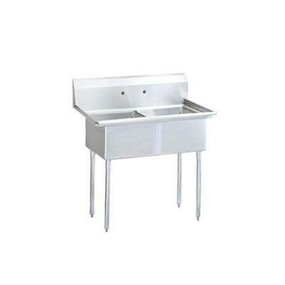 Turbo Air - TSB-2-N - 53 1/4 in Two Compartment Sink