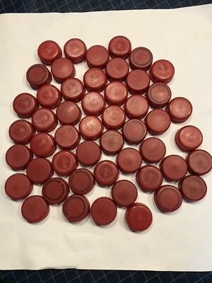 Dr Pepper 50 Maroon Plastic Bottle Caps for Crafting and  Art Projects