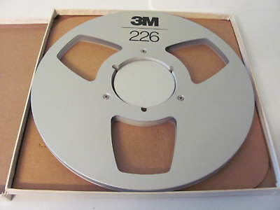 """3M Scotch 10 1/2"""" Metal Take-Up Reel to Reel for 1/4 Tape  With Box"""
