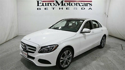 Mercedes-Benz C-Class 4dr Sedan C 300 4MATIC mercedes benz c300 c 300 4matic awd white certified 15 16 used navigation blind