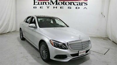 Mercedes-Benz C-Class 4dr Sedan C 300 Luxury 4MATIC mercedes benz c300 c 300 4matic awd 17 certified 15 16 used navigation silver