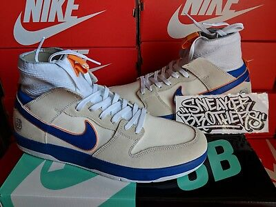 new style e6fda 73e1f Nike SB x Medicom Toy Zoom Dunk High Elite QS Be rbrick White Blue 918287