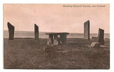 Orkney postcard Standing Stones of Stennis near Kirkwall