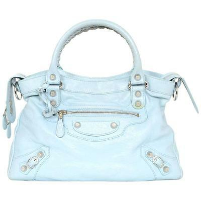 Cuir Magnifique Bag City Leather Baby Blue 600 Balenciaga Eur Sac 1xEgqfZE
