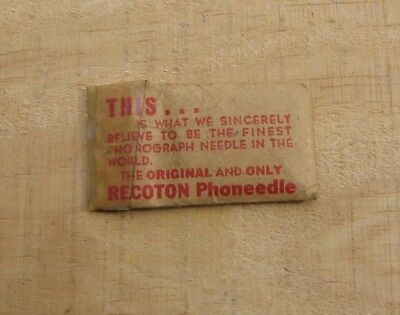 Vintage Original Recoton Phoneedle Phonograph Finest Needle in World Package b