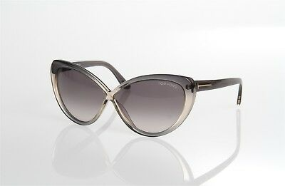 4dfb22b5dbdd Tom Ford Madison Tf253 20B Transparent Grey Cat Eye Butterfly Style  Sunglasses