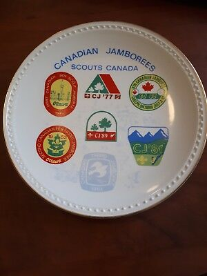 Canadian Jamborees Scouts Canada Collector Plate