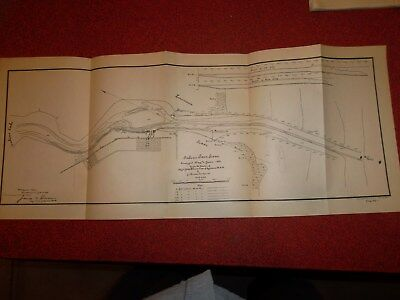 SABINE PASS TEXAS MAP  1899  -  22 X 9 Inches