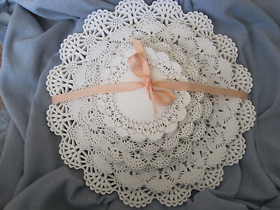 """100 💜 WHITE Round Paper Lace Doilies Variety Pk 20 each 4"""" 5"""" 6"""" 8"""" & 10"""" Lot"""