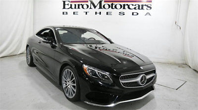 Mercedes-Benz S-Class 2dr Coupe S 550 4MATIC mercedes benz s coupe s550 4matic awd 15 16 17 used black navigation certified